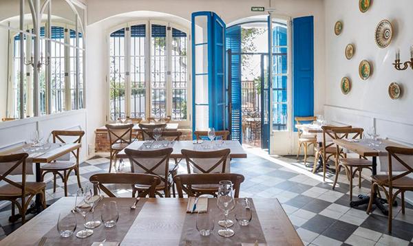 Menjador interior Restaurant Blau de Mar d'Arenys de Mar