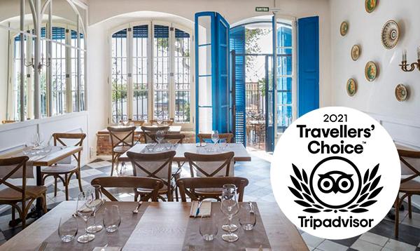 Blau de Mar ha rebut el premi Travellers Choice 2021 de Trip Advisor